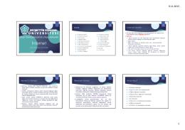 İnternet - Bilgi Teknolojileri ve Uygulamaları
