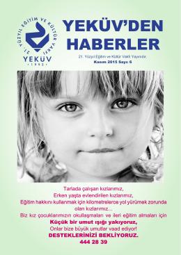 YEKÜV`DEN HABERLER - 21. Yüzyıl Eğitim ve Kültür Vakfı