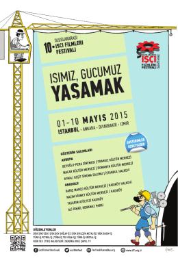 10. Uluslararası İşçi Filmleri Festival İstanbul Gösterim Programı İçin