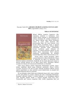 Page 1 Türkbilig, 2013/25: 163- 165. Hacızade, Naile (2012