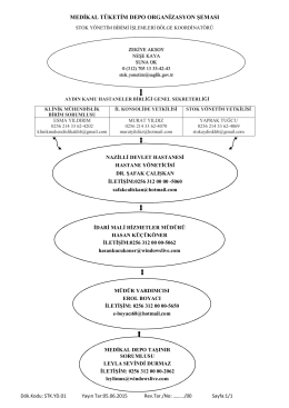 medikal tüketim depo organizasyon şeması