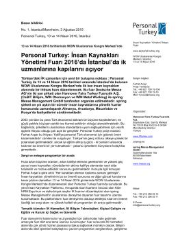 Basın bildirisi - Personal Turkey