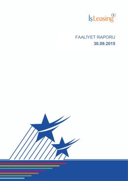 ISFIN Faaliyet 30 09 2015