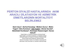 Periton diyalizi hastalarında akım aracılı dilatasyon ve asimetrik