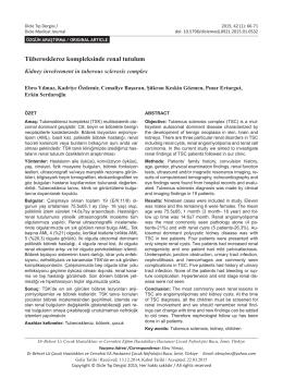 Tüberoskleroz kompleksinde renal tutulum