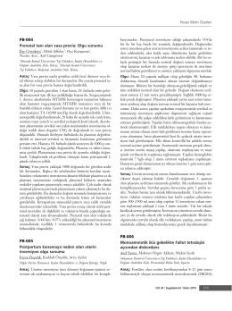 PDF Olarak İndir - Perinatal Journal