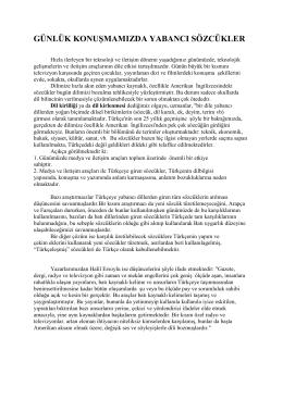 Türkçeye Batı Kaynaklı Dillerden Giren Sözcükler