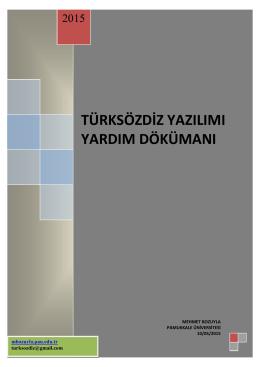 TürkSözDiz Yardım Dosyası - mehmet bozuyla