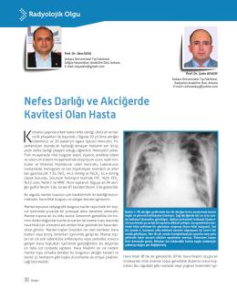 Nefes Darlığı ve Akciğerde Kavitesi Olan Hasta