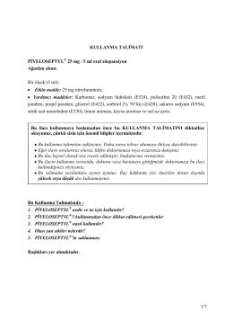 Piyeloseptyl Oral Suspansiyon KT