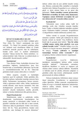 sevgi ve barış dili: selâm