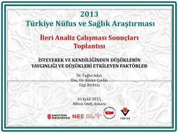 2013 Türkiye Nüfus ve Sağlık Araştırması