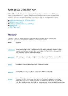 GoFeed2 Dinamik API