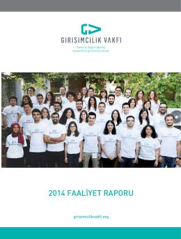 2014 Faliyet Raporu - Türkiye Girişimcilik Vakfı
