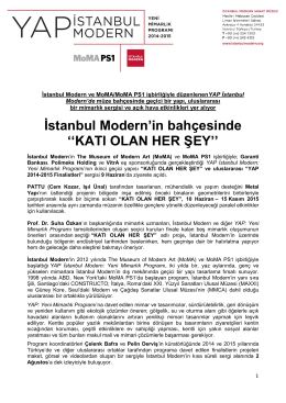 "İstanbul Modern""in bahçesinde """"KATI OLAN HER ŞEY"""""