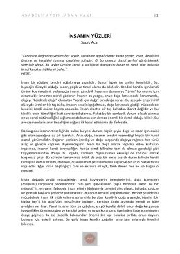 İnsanın Yüzleri - Anadolu Aydınlanma Vakfı