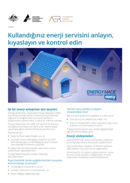Kullandığınız enerji servisini anlayın, kıyaslayın ve