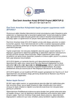 BYOD Projesi Bilgilendirme Mektubu