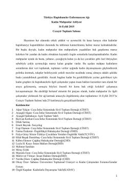 Türkiye Hapishaneler Enformasyon Ağı Kadın Mahpuslar