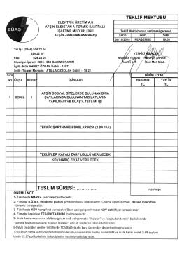 Fax - Afşin-Elbistan A Termik Santrali