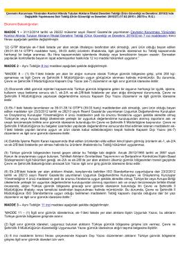 31/12/2014 tarihli ve 29222 mükerrer sayılı Resmî Gazete`de