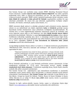 Star Seismic Europe Ltd. tarafından satışa sunulan BRBF (Buckling