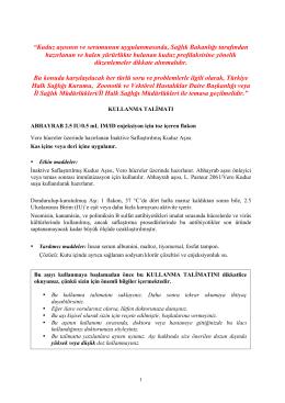 """""""Kuduz aşısının ve serumunun uygulanmasında, Sağlık Bakanlığı"""