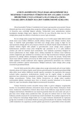avrupa komisyonu insan hakları komiseri nıls muıznıeks tarafından