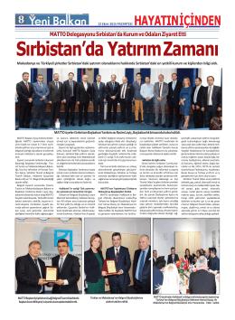 MATTO Delegasyonu Sırbistan`da Kurum ve Odaları Ziyaret Etti