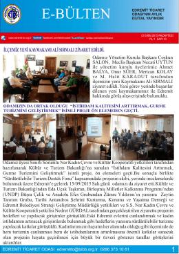 2015 EKİM - Edremit Ticaret Odası