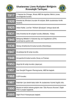 Uluslararası Kronolojik Tarihçe