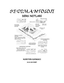 SEDIMANTOLOJI - Jeoloji Mühendisliği Bölümü