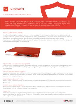 Kerio Control Box Donanım Cihazı Kerio Control Box Nedir?