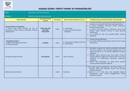 hassas görev tespit formu ve prosedürleri