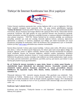 Türkiye`de İnternet Konferansı`nın 20.si yapılıyor - Inet-tr