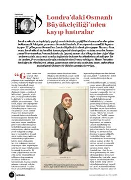 Londra`daki Osmanlı Büyükelçiliği`nden kayıp hatıralar