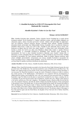 (1220-1237) Kayınpederi Kir Fard Hakkında Bir Araştırma Alaeddin