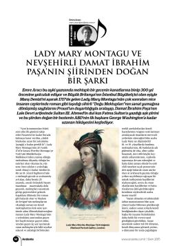 lady mary montagu ve nevşehirli damat ibrahim paşa