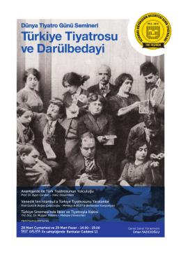 Türkiye Tiyatrosu ve Darülbedayi
