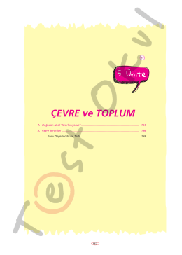 ÇEVRE ve TOPLUM - Your Pocket Library