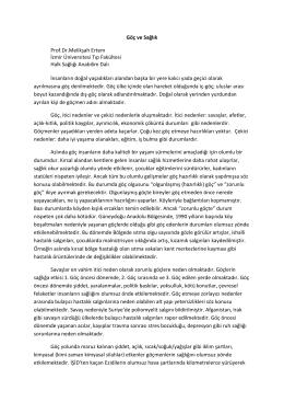 Göç ve Sağlık Prof.Dr.Melikşah Ertem İzmir Üniversitesi Tıp Fakültesi