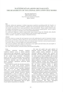 Makaleyi Yazdır - Eğitim ve Bilim