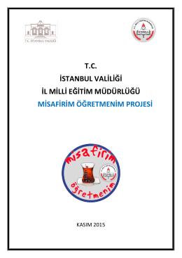 Misafirim Öğretmenim Projesi - İstanbul İl Milli Eğitim Müdürlüğü