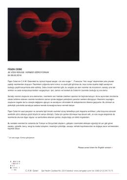 FİGEN CEBE JE VOIS ROUGE / KIRMIZI GÖRÜYORUM 04