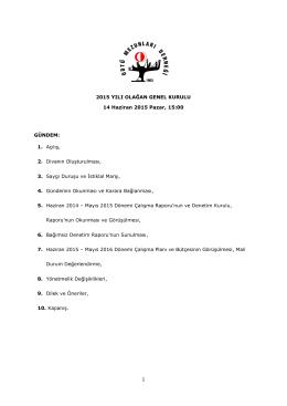 odtü mezunları derneği 2015 yılı genel kurul tutanağı