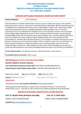 çorum-hattuşaş-yazılıkaya gezisi katılım ücreti
