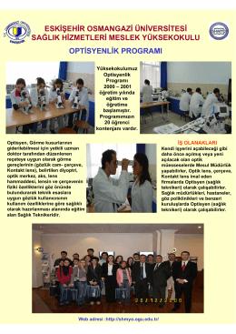 Optisyenlik Programı Posteri
