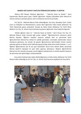 Genel Fakültemiz Öğrencilerine Manisa Gezisi