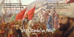 1453 İstanbul`un Fethi