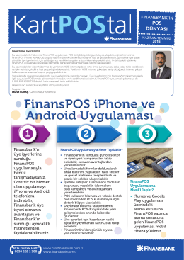 FinansPOS iPhone ve Android Uygulaması